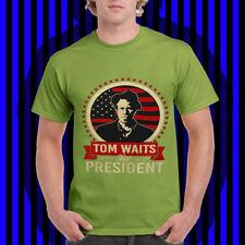 Vtg TOM WAITS  FOR  PRESIDENT  t shirt mens women limmited edition