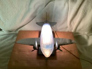 Sarsaparilla Art Deco 1970's Blue Airplane deck lamp