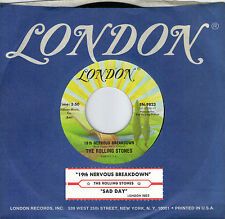 THE ROLLING STONES  19th Nervous Breakdown / Sad Day 45 with jukebox tab