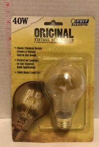 Feit Electric Original Vintage Style Bulb - 40W - 3000 Hour Life