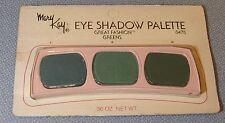 Vtg Mary Kay Eye Shadow Palette SEALED Great Fashion Greens 0475 3 Shades NIP