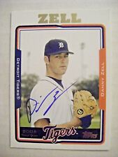 DANNY ZELL signed TIGERS 2005 Topps Update baseball card AUTO LUFKIN TX HOUSTON