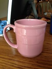 Longaberger Pottery Mug Woven Traditions Pink Horizon Of Hope Breast Cancer Cup