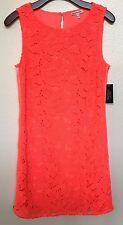 "Juicy Couture ""Jazzy"" Sleeveless, Orange Dress, Size 6, BRIGHT, Lace. Size Zips"