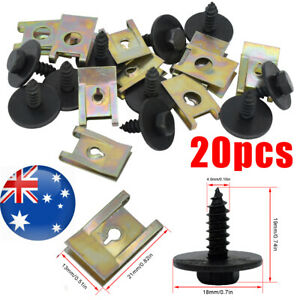 x20 U Nut Hex Screw For BMW Speed Fastener Undertray Sheet Metal Clip Fixing AU