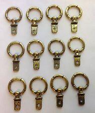 """12 New Antique Ring Door Pulls or Drawer Handles - 1-1/8"""" Diameter (C-7)"""