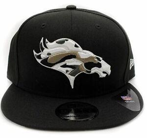 Denver Broncos New Era 9Fifty Camo Trim Adjustable Black Snapback Hat NFL