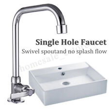 Waterfall Faucet Deck Mounted Wall Mounted Cold Water Rotatable Bathroom Kitchen