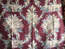 Barkcloth Pinch Pleated Drape Curtains Vintage 6 Panels Bonded Beaufort Trellis