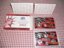 2003 US Mint Silver Proof Set w/ Misprinted COA