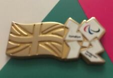 London 2012 Olympic Golden Flag Paralympic Logo Pin Badge