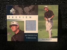 Jeff Maggert Upper Deck 2001 Preview SP Authentic Threads Golf Shirt Card JM-AT