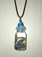 Dolphin bottle charm necklace