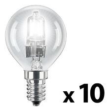 10 x SES E14 MiniSun Branded 42W   60W  Eco Golf Ball Globe Light Bulbs NEW