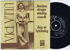 ULLA PIA Jorden..Danish Pop 45PS 1974 Cover Lyn Duddy - Lee Rockiss Johnny Angel