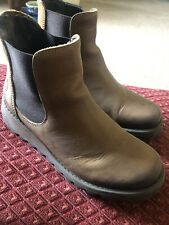 Fly London Women's Ankle Boots Brown Size UK 5.5 EU 38 Jodhpur Boot Style
