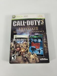 Call of Duty 3 (Xbox 360, 2006) The Ultimate World War II Experience BOX SET NEW