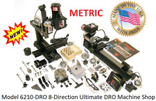 Sherline 6210dro 8 Direction Mill And 17 Lathe Ultimate Dro Machine Shop Metric