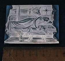 MARIA JESUS Galvano Druckplatte Klischee Eichenberg letterpress printing plate