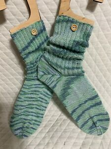 Hand knitted crew socks