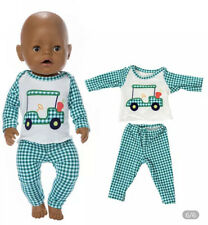 ⭐️BRAND NEW⭐️Clothes To Fit 43cm Baby Born Doll -  Gingham Pyjamas