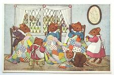 A/S Margaret Tempest MICE Ladies PATCHWORK QUILT Pretty MEDICI Postcard