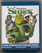 New Sealed Shrek The Complete Collection in 3D (Promo Blu-ray Set) All 4 Films