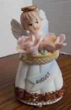 VTG 1960's Inarco JAPAN E-2600 August Porcelain Birthday Angel EUC