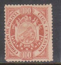 (U24-8) 1894 Bolivia 100c red high value Mng (B)