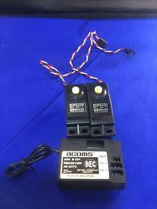 Acoms Vintage Ar227fe Transmitter As11 Servos Rc Car Radio Gear Working Vvgc Set