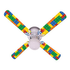 New LEGOS KIDS LEGO BLOCKS Ceiling Fan 42""