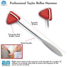 Taylor Reflex Hammer Red Tip Surgical Diagnostic Instruments Testing Pro Medical