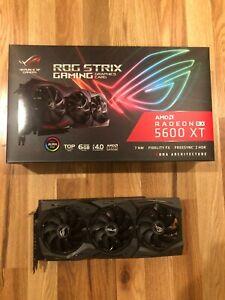 ASUS RX 5600 XT ROG STRIX TOP OC Video Card GPU (ROG-STRIX-RX5600XT-T6G-GAMING)