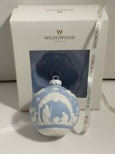 Wedgewood Jasperware Nativity Ball Ornament Blue/White