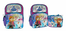 "DISNEY'S FROZEN BACKPACK AND/OR LUNCH BOX SET! FEVER LARGE SCHOOL BAG 16"" NWT"