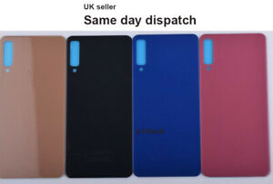 For Samsung Galaxy A7 2018 A750 Rear Back Glass Battery Cover Panel + adhesive