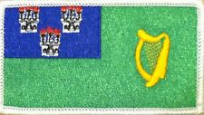 DUBLIN  Flag Military Patch With VELCRO® Brand Fastener WHITE Border #14