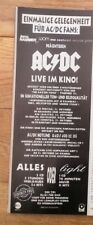 AC/DC 1992 GERMAN magazine ADVERT/Poster/clipping 11x4 inches