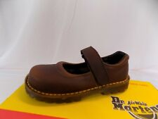 New Vtg Dr Doc Martens Kids Mary Jane Shoes 6485 Bark UK Child 10 US Youth 11