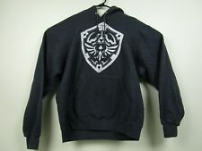 Mens Legend Of Zelda Medium Gray Pullover Hooded Sweatshirt Hoodie
