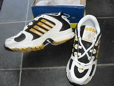 Ador Black yellow and white trainers - size  1   BN