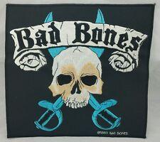 Bad Bones Skull & Sword Back Patch Stick On Patch Heavy Metal 24cm x 22.5cm