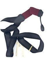 Trafalgar Black Pinstripe Silk Suspenders