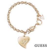 GUESS Damen Armband Armkette Schmuck Metall Gold Herz UBB71531