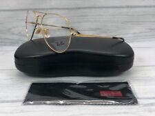 Ray Ban Aviador RX6489 2500 Dourado Óculos 58mm lente de demonstração 18a53ffa39