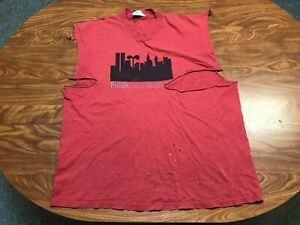 MENS VINTAGE 90'S 1999 ORIGINAL THRASHED DISTRESSED PHISH NEW YORK TOUR SHIRT XL