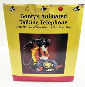 Disney Telemania Goofy Animated Talking Corded Telephone Phone