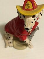resin - firefighting dalmatian dogs westland