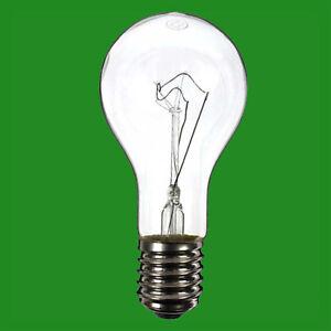 1x 500W Clear Filament GLS Bright Light Bulb Lamp GES E40 Goliath Edison Screw