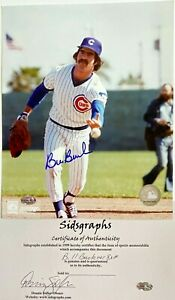 BILL BUCKNER Chicago Cubs Signed Autographed 8 x 10 MLB Color Photo COA/Holo